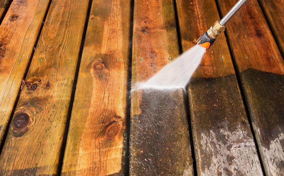 Limpieza de terrazas de madera